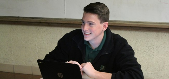 Muskegon Catholic Central high school student